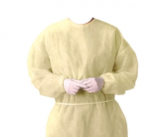 Disposable Yellow 4XL Polypropylene Barrier Cover Gowns with Elastic Cuffs