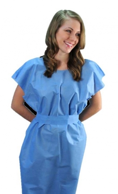Tidi® Ultimate Blue SMS Exam Gowns