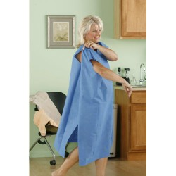 Tidi® Ultimate Blue SMS Plus Size Wrap Exam Gowns