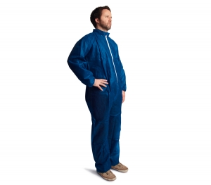 #DCBH-SIZE-SMSEWA Safety Zone® Individually Packed Disposable Microporous Protective Coveralls w/ Hood & Elastic Cuffs
