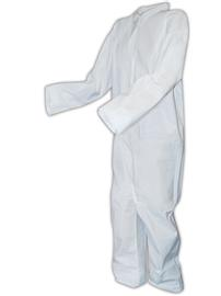 #DCWH-SIZE-BB Disposable Microporous Standard Protective Coveralls with open cuffs.