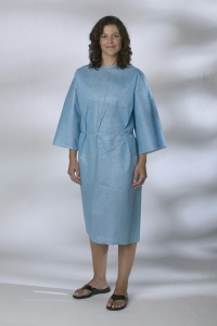 NON27146SL Medline® Disposable SMS/Multi-Ply Patient Bath Robes/Smocks