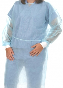 Disposable Protective Polypropylene Barrier Gowns w/ Knit Cuffs