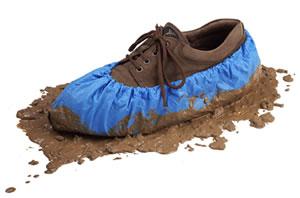 Polyethylene Waterproof Textured Shoe Covers Water Proof