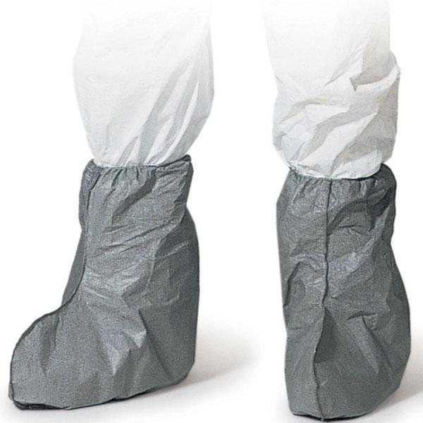 DuPont™ Tyvek® FC Boot Cover with Tyvek® FC Skid-Resistant Sole, Gray, FC454SGY Dupont™ Disposable Tyvek® Non-Skid 18` High Boot Covers
