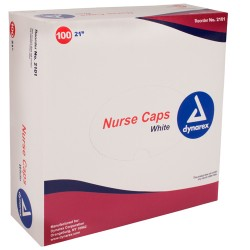 Polypropylene Bouffant Caps, Dynarex® Disposable Polypropylene Nurse/Bouffant Caps (Box)