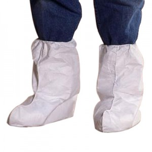 TY454SWH Dupont Disposable Tyvek® 18`H Boot Covers w/ Elastic Top