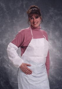 PE Coated Disposable Impervious Protective Aprons