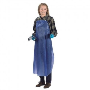 Ansell® BWC Series PVC Vinyl Protective Apron with Sewn Edge, 3 piece ties, 8-mil, 33` x 44`