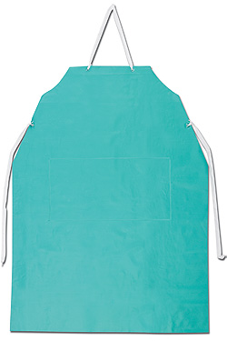 Ansell® Heavy Duty 18-Mil PVC Vinyl Apron w/ Stomach Patch- 33` x 44`