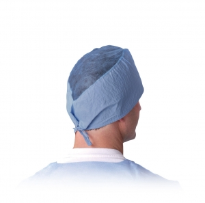 Sheer-Guard Spunlace Surgeons' Caps with under the chin ties, NONSH100C Medline® Disposable Surgeons' Head Covers