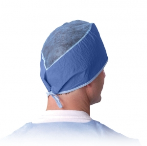 Medline Sheer-Guard Disposable Surgeons Cap, NON28626 Medline® Sheer-Guard Disposable Multi-Layer Surgeons Caps with ties