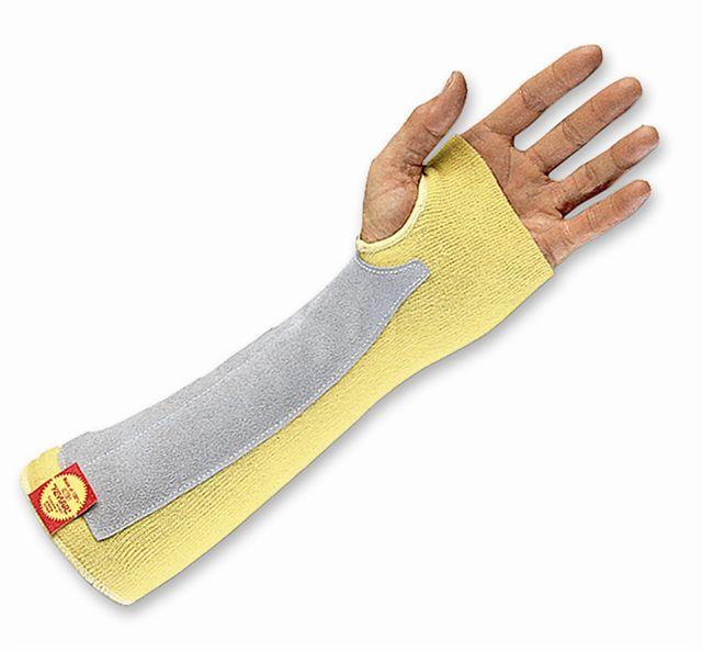 Goldknit kevlar thumb slot sleeve protector