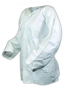 IC264CP Dupont™ Tyvek® IsoClean® Single-Use Cleanroom Frocks - Clean Processed