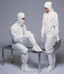 IC105CP DuPont™ Tyvek® IsoClean® Single-Use Cleanroom Coveralls - Clean Processed