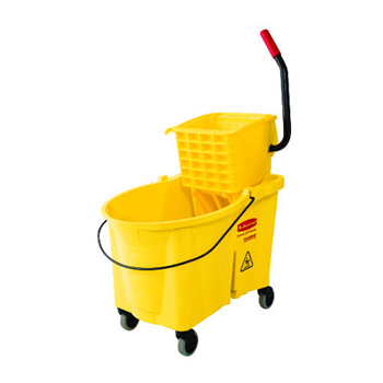#6186 Rubbermaid® Commercial WaveBrake® Mop Bucket & Wringer (44 Qt)