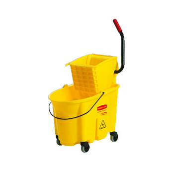 Rubbermaid® Commercial 26 Qt WaveBrake® Side Press Mop Bucket & Wringer