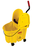 Rubbermaid® Commercial WaveBrake® Down-Press Mop Wringer- Yellow