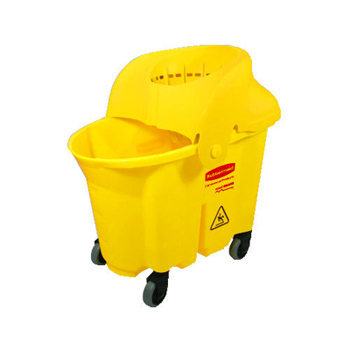 Rubbermaid® Commercial 35 Qt WaveBrake® Mop Bucket & Wringer, Institutional Strainer Combo