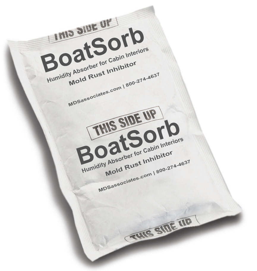 BoatSorb Commercial Moisture Control Mold/Rust Inhibitor Pouches for Marine Cabins and  Interiors