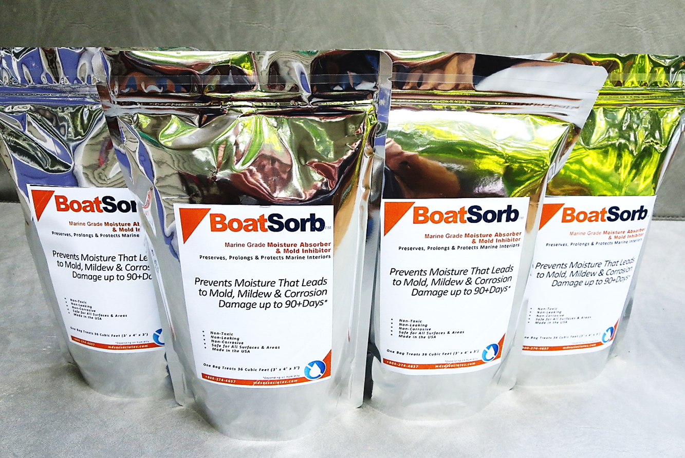 BoatSorb™ Marine-Grade Moisture Absorber and Mold/Rust Inhibitor Packs