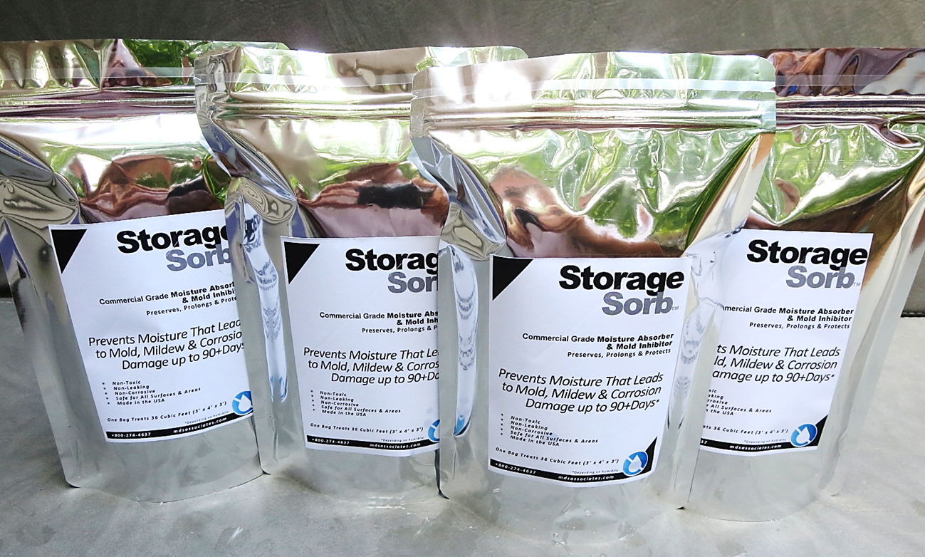 StorageSorb™ Moisture Absorber and Mold Prevention Packs.