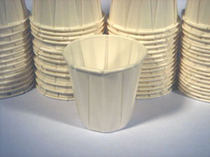 Solo® Portion/Souffle Pleated Paper Cups with Rolled Rim