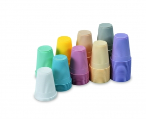 9241/9243 Tidi® Disposable Plastic Colored Drinking Cups - 3.5 oz