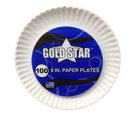 MDS Economy Gold Star 9` Paper Plates