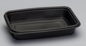 Genpak® 24 oz. Microwave Safe Black Polypropylene Containers