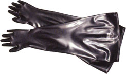 8B3032A North® 32` Unsupported Butyl Chemical-Resistant Dry Glovebox Glove