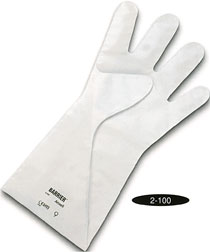 2-100 Ansell® White Barrier® 2.5-mil 5-Layer Laminated Chemical-Resistant Gloves