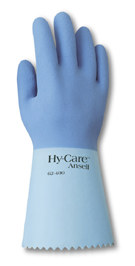 62400 Ansell® Hy-Care™ Flock-Lined Chemical-Resistant Gloves