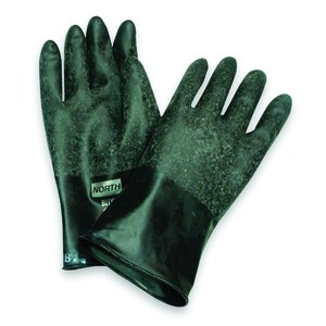B161 North® Unsupported 16-mil Chemical-Resistant Butyl Gloves w/ Smooth Texture
