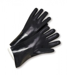 Economy PVC Dipped Chemical-Resistant  Gloves w/ 12` Gauntlet Cuff