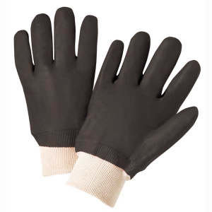 Economy Chemical-Resistant PVC Dipped Gloves w/ Knitwrist