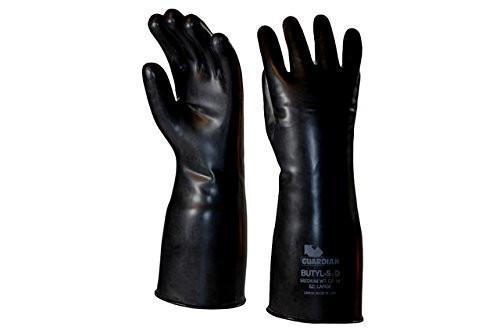 Guardian Smooth Curved Hand Butyl Gloves - 14 mil