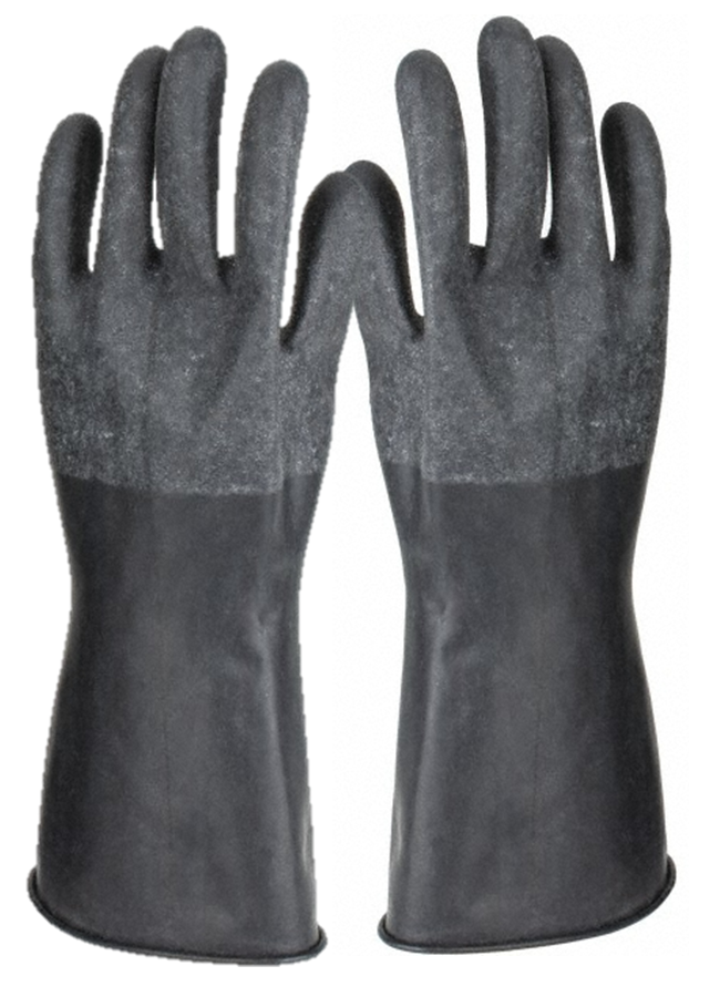 Guardian Rough Curved Hand Butyl Gloves - 14 mil