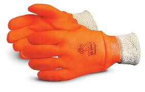 Superior® North Sea™ Insulated Water-Proof Orange PVC Winter Gloves