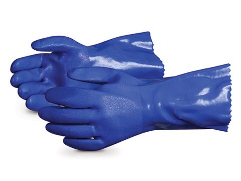 SH230 Superior Chemstop™ Heavier-Weight PVC Chemical Resistant Work Gloves