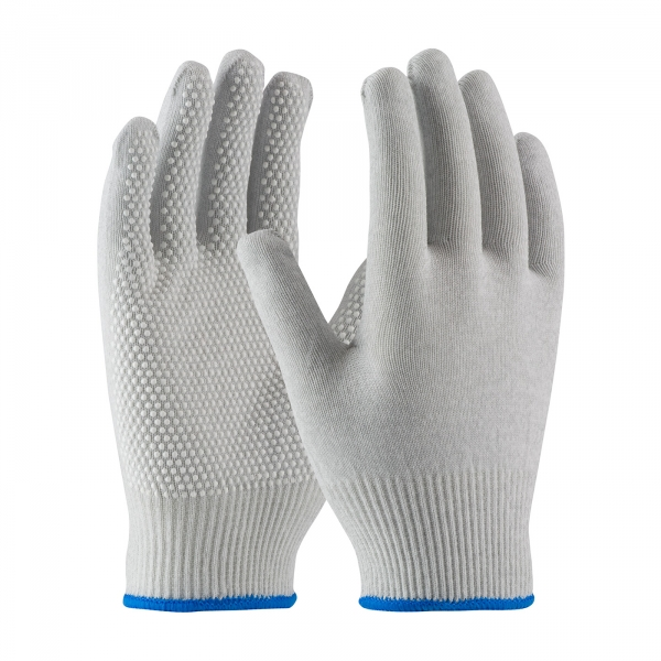 40-6411 PIP® CleanTeam® Seamless ESD Nylon Cleanroom Gloves w/ PVC Dots