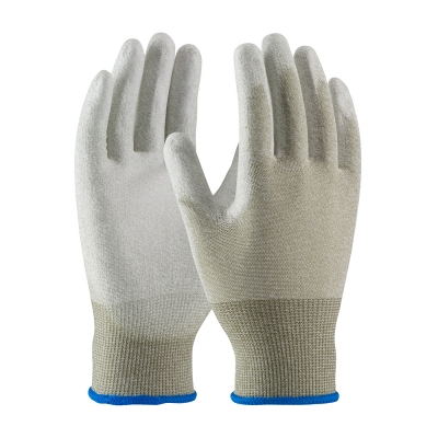 #40-6415 PIP CleanTeam® Seamless ESD Coated Nylon Cleanroom Gloves