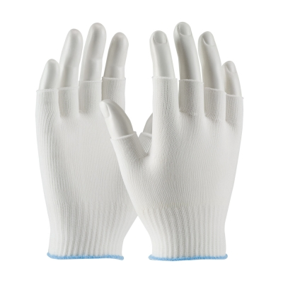 #40-736 PIP® CleanTeam® Light Weight Knit Nylon Uncoated Fingerless Cleanroom Gloves