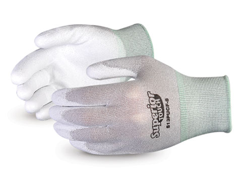 S13PUCF Superior® Touch® Static Dissipative Polyurethane Palm Coated Nylon Gloves