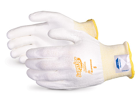 S13SXPUQ Superior® Touch Economy 13-gauge Cleanroom Knit w/ Dyneema and Polyurethane Palms