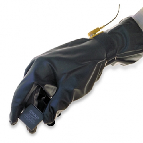 28G QRP PolyTuff® 8-Mil Solvent Process Conductive Urethane Cleanroom Gloves