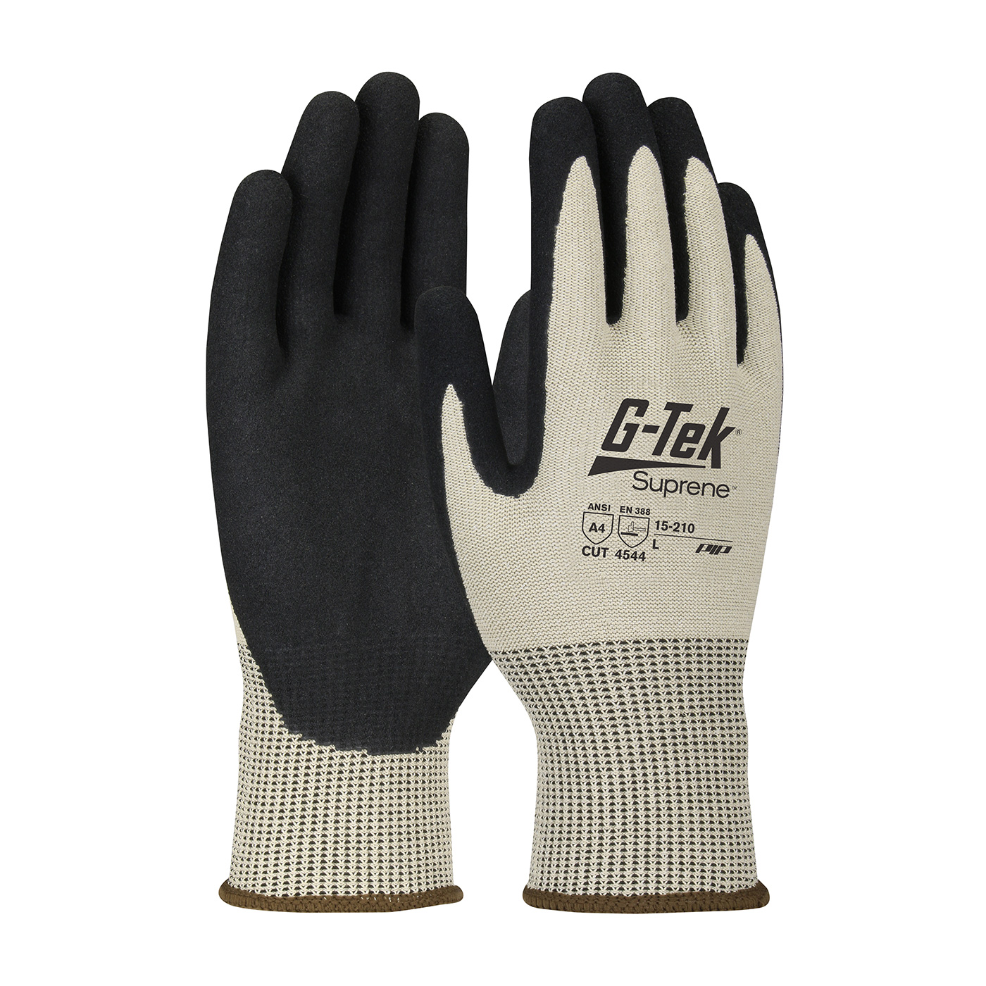 15-210 PIP® G-Tek® Suprene™ Palm and Fingers Nitrile Coated MicroSurface seamless knit gloves