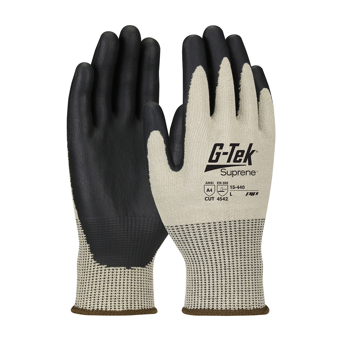 15-440  PIP® G-Tek® Suprene™ palm and finger NeoFoam coated grip gloves