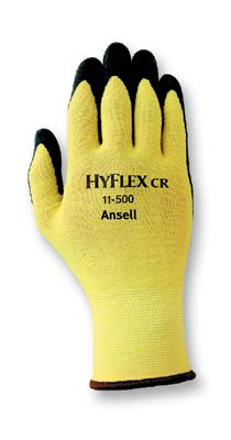 11500] Ansell® HyFlex® CR #11-500 Foam Nitrile Coated Cut-Resistant Protective Work Gloves. Cut level 2.