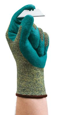 11501] Ansell® HyFlex® #11-501 CR+ Foam Nitrile Dipped Cut-Resistant Protective Work Gloves. Cut level 4